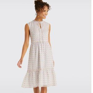 DRAPER JAMES SWISS DOT TIERED DRESS NWT